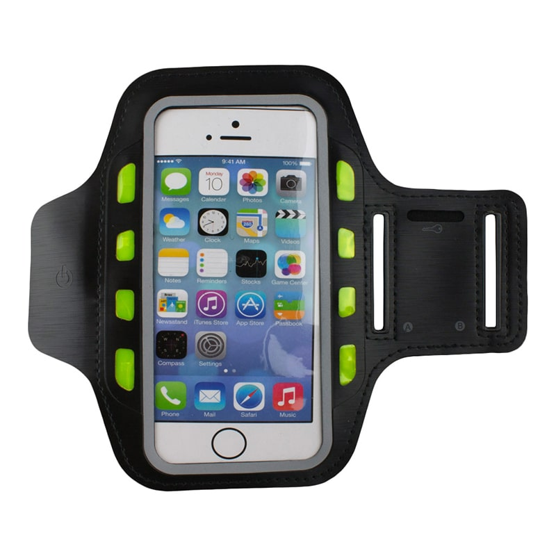 eStore LED Sportarmband för Smartphone - Svart