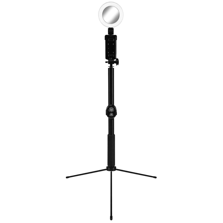 eStore Selfiepinne och Stativ med LED-ring - Svart