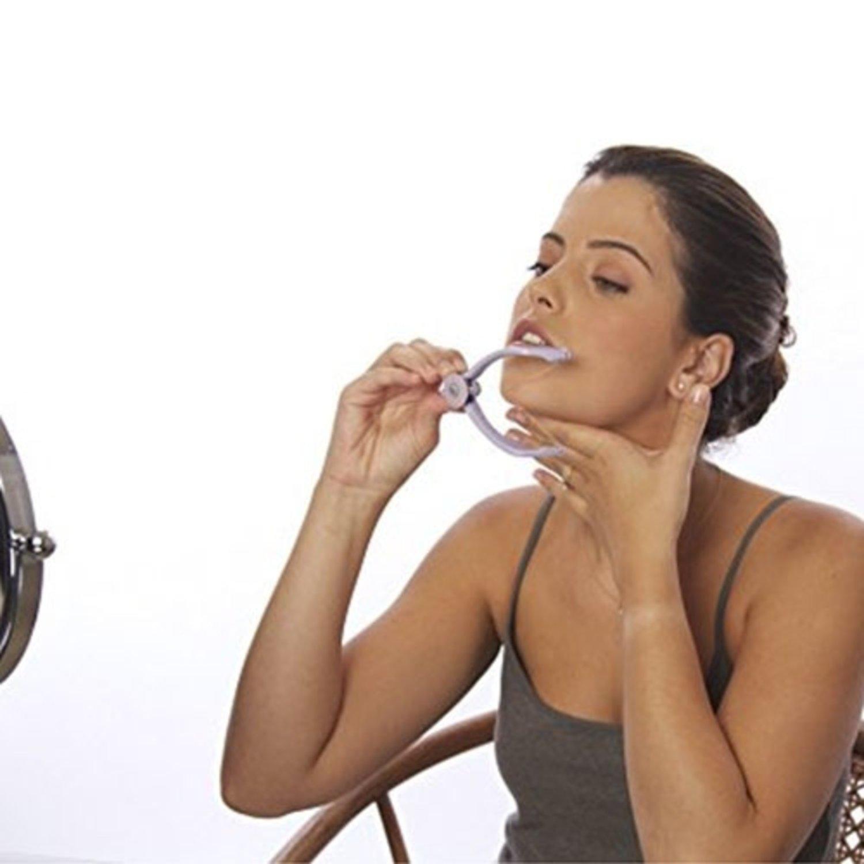 hårborttagning i ansiktet med tråd